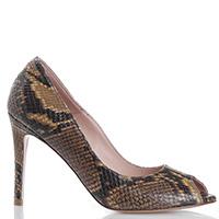 Туфли-лодочки Anna F. со змеиным принтом, фото