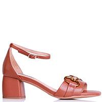 Коричневые босоножки Bibi Lou с декором на носке, фото