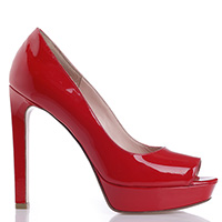 Красные туфли Anna F. на платформе, фото