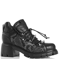 Утепленные ботинки Fru.it со змеиным принтом, фото