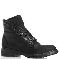 Черные ботинки Fru.it с блестящим носком, фото