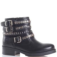 Черные ботинки Metisse с декором-ремешком, фото
