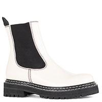 Белые ботинки Bibi Lou на черной подошве, фото