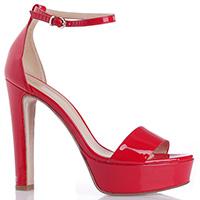 Лаковые босоножки Mi Amor красного цвета, фото