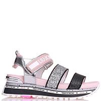 Розовые сандалии Liu Jo на толстой подошве, фото