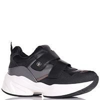 Черные кроссовки Liu Jo на липучках, фото
