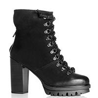 Черные ботинки Cafe Noir с декоративной шнуровкой , фото