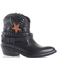 Ботинки Metisse черного цвета с декором-звездой, фото