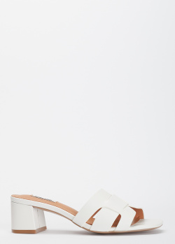 Белые мюли Bibi Lou на среднем каблуке, фото