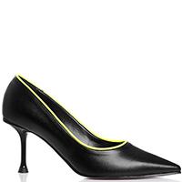 Черные туфли Bottega Lotti с неоновой окантовкой, фото