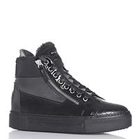 Черные ботинки NoClaim на атласной шнуровке, фото