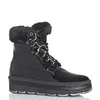 Лаковые ботинки NoClaim с черно-белыми шнурками, фото