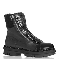 Черные ботинки NoClaim с декором из бусин, фото