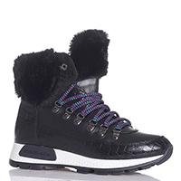 Черные ботинки NoClaim с цветными шнурками, фото
