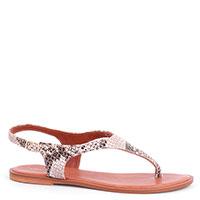 Серебристые сандалии Cantini&Cantini с тиснением под рептилию, фото