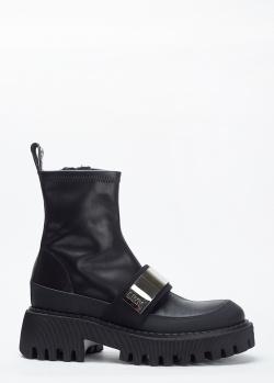 Черные ботинки Loriblu с брендовым декором, фото