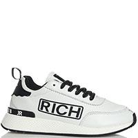 Кроссовки John Richmond из белой кожи с логотипом, фото