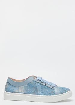 Кружевные кеды Stokton на атласной шнуровке, фото