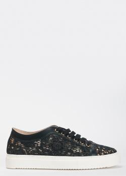 Кружевные кеды Stokton черного цвета, фото