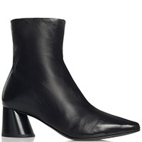 Ботинки Halmanera из гладкой черной кожи, фото