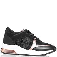 Черные кроссовки Liu Jo с декором на подошве, фото