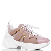 Розовые кроссовки Liu Jo на толстой подошве, фото