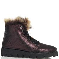 Женские ботинки Lab Milano бордового цвета, фото