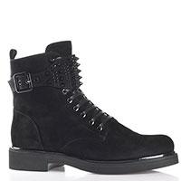 Замшевые ботинки Loriblu с декором-шипами, фото