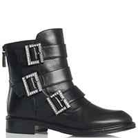 Ботинки Loriblu с декоративными ремешками черного цвета, фото