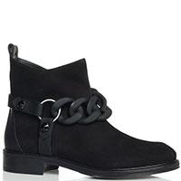 Замшевые ботинки Loriblu с декоративными ремешками, фото
