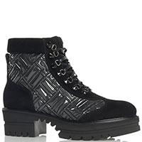 Утепленные мехом ботинки Loriblu с фактурной вышивкой, фото