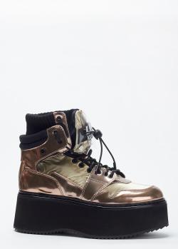 Ботинки на платформе Loriblu бронзового цвета, фото