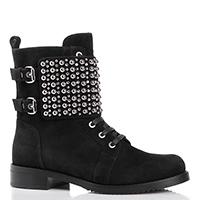 Черные ботинки Loriblu с металлическим декором, фото