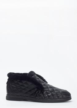 Ботинки на меху Loriblu с геометрической стежкой, фото