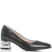 Черные туфли Marino Fabiani на каблуке в полоску, фото