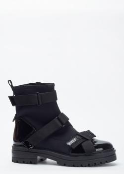 Черные ботинки Loriblu с лаковыми вставками, фото