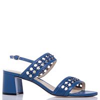 Синие босоножки Loriblu на устойчивом каблуке, фото