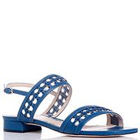 Женские сандалии Loriblu из кожи синего цвета, фото