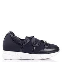 Черные кроссовки Blumarine с лентами, фото
