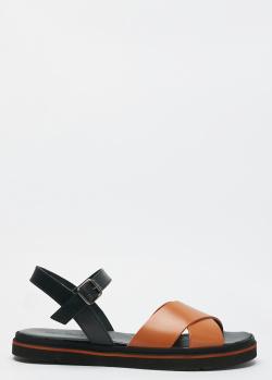 Коричневые сандалии Norma J.Baker из гладкой кожи, фото