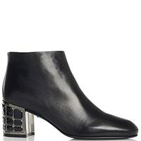 Черные женские ботинки Loriblu с декором на каблуке, фото