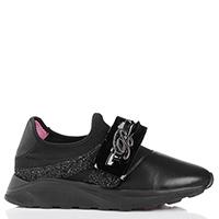 Черные кроссовки Blumarine с декором в виде банта, фото