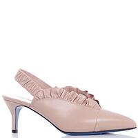 Бежевые туфли-слингбеки Loriblu на резинке, фото