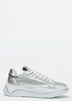 Серебристые кроссовки FABI на массивной подошве, фото
