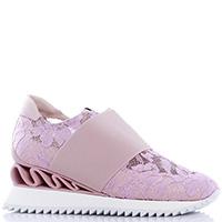 Кроссовки Le Silla из розового кружева, фото
