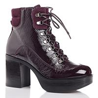 Лаковые ботинки Jeannot бордового цвета, фото