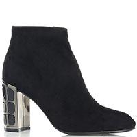Черные ботинки Loriblu с декором на каблуке, фото