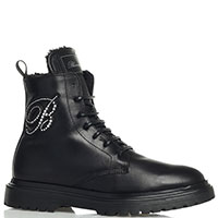 Черные ботинки Blumarine с декором-стразами, фото