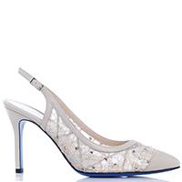 Молочные туфли-слингбеки Loriblu со стразами, фото