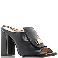 Черные мюли Fiorangelo на устойчивом каблуке, фото